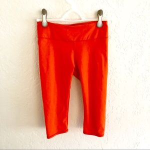 Fabletics Salar Crop Poppy Red Orange XS